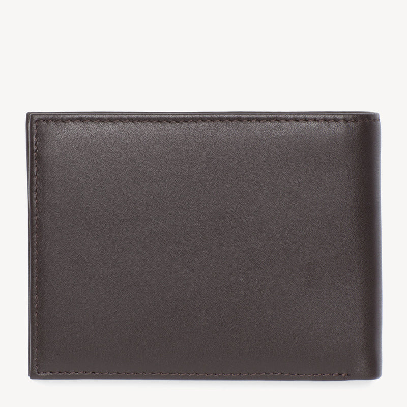 Tommy Hilfiger Eton Flap Coin Wallet - Brown Leather