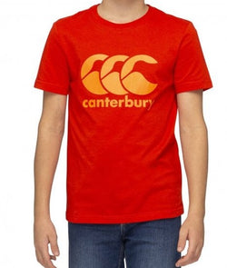 Canterbury Boys Graphic Tee - Fiery Red