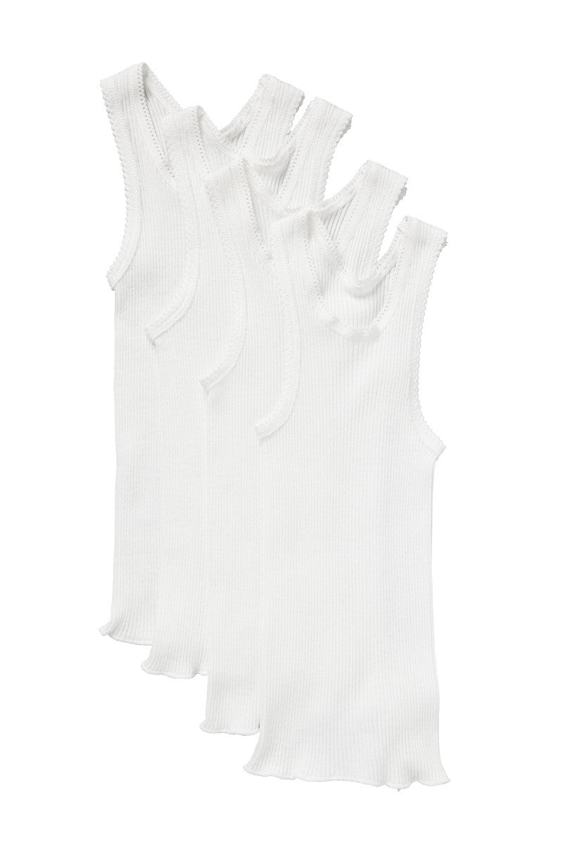 BONDS Baby Vest 4PK - White