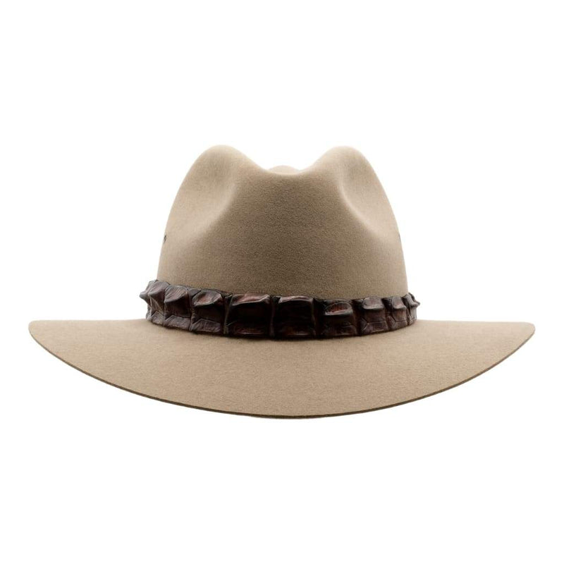 The Coolabah Hat has been a successful addition to the Akubra range and is particularly popular with visitors to Australia. Features: genuine farmed crocodile band satin lining eyelet vents. Make the most of reduced prices on all of our Akubras online, and receive free shipping if you spend over $200.