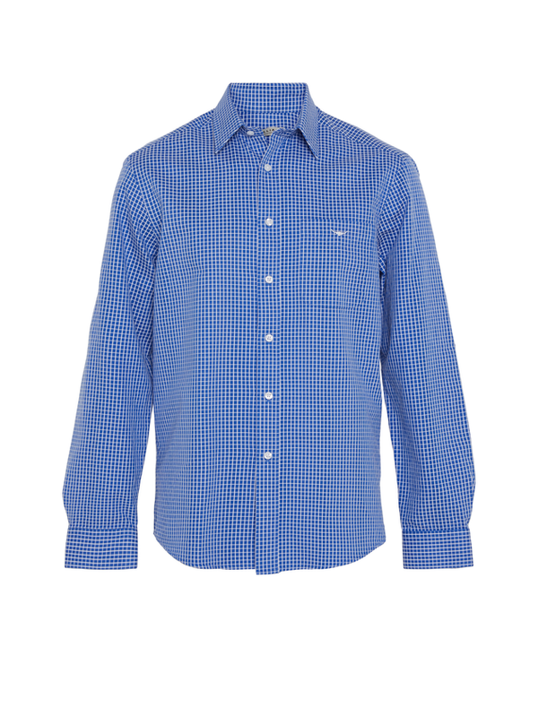 R.M. Williams Mens Collins Shirt - White/Blue