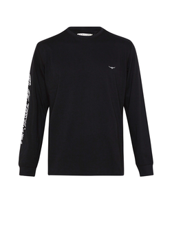 R.M. Williams Mens Signature Long Sleeve T-Shirt - Black
