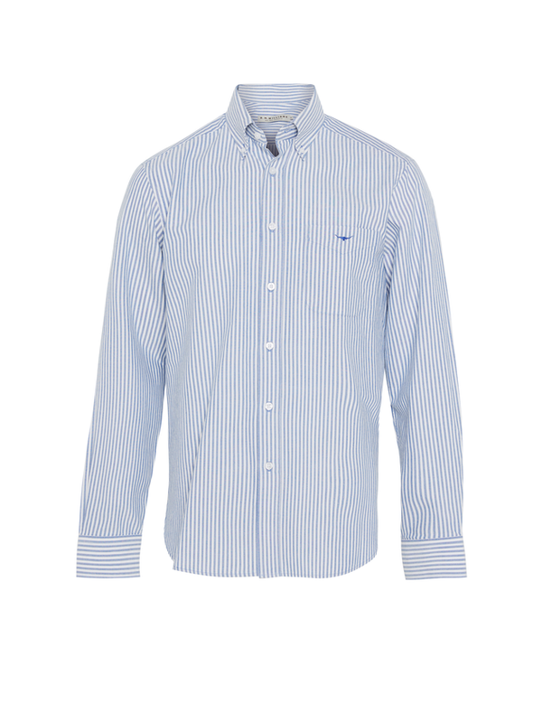 R.M. Williams Mens Collins Shirt - Blue/White