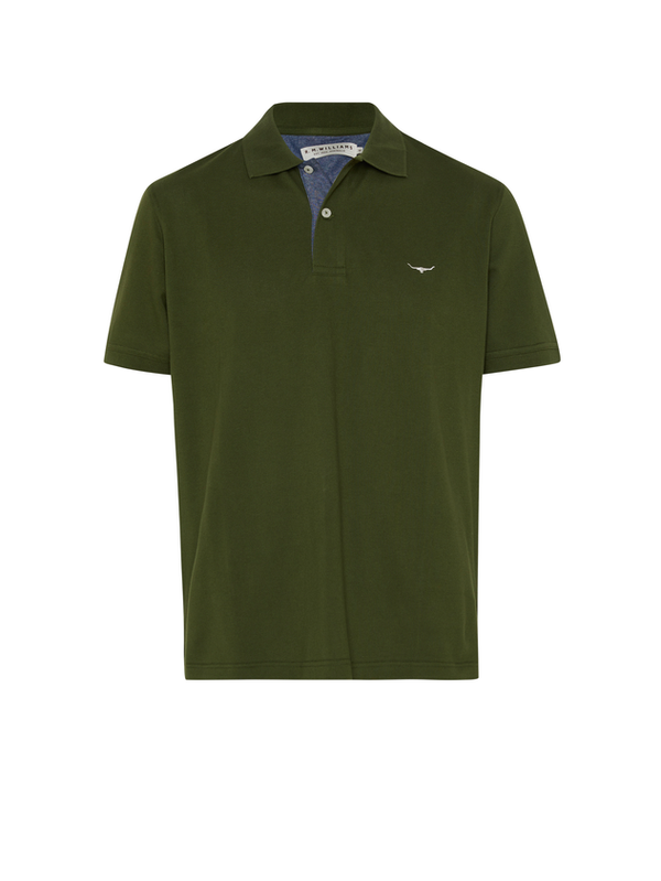 R.M. Williams Mens Rod Polo - Olive