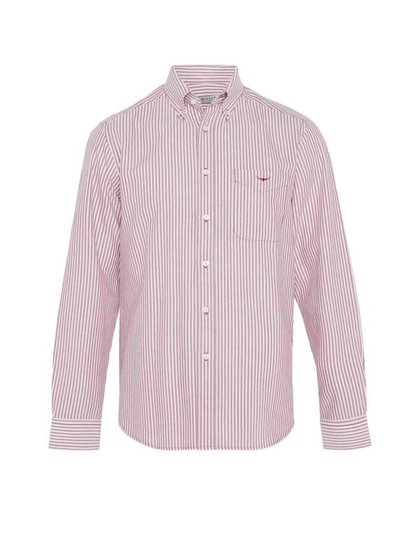 R.M. Williams Mens Collins Shirt - White/Red