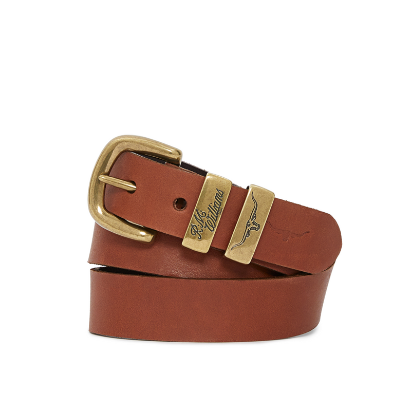 "R.M. Williams 1 1/4"" Drover Belt - Caramel"