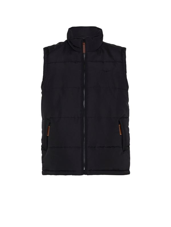 R.M. Williams Mens Patterson Creek Vest - Black