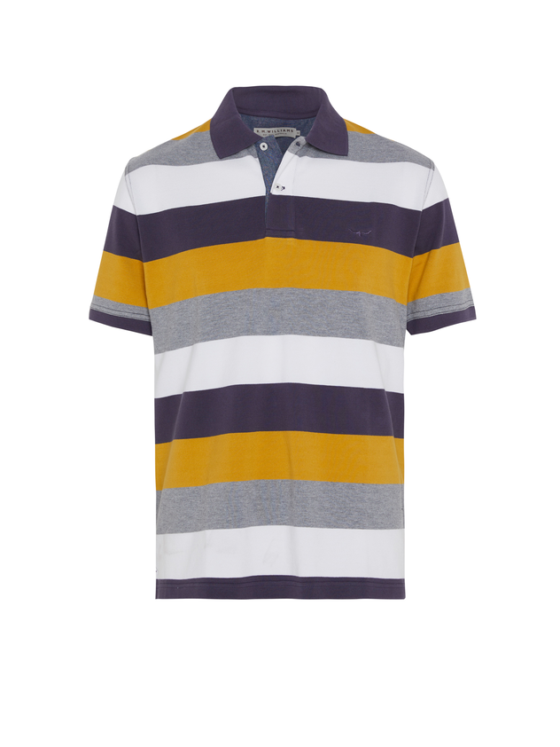 R.M. Williams Mens Rod Polo - Yellow Stripe