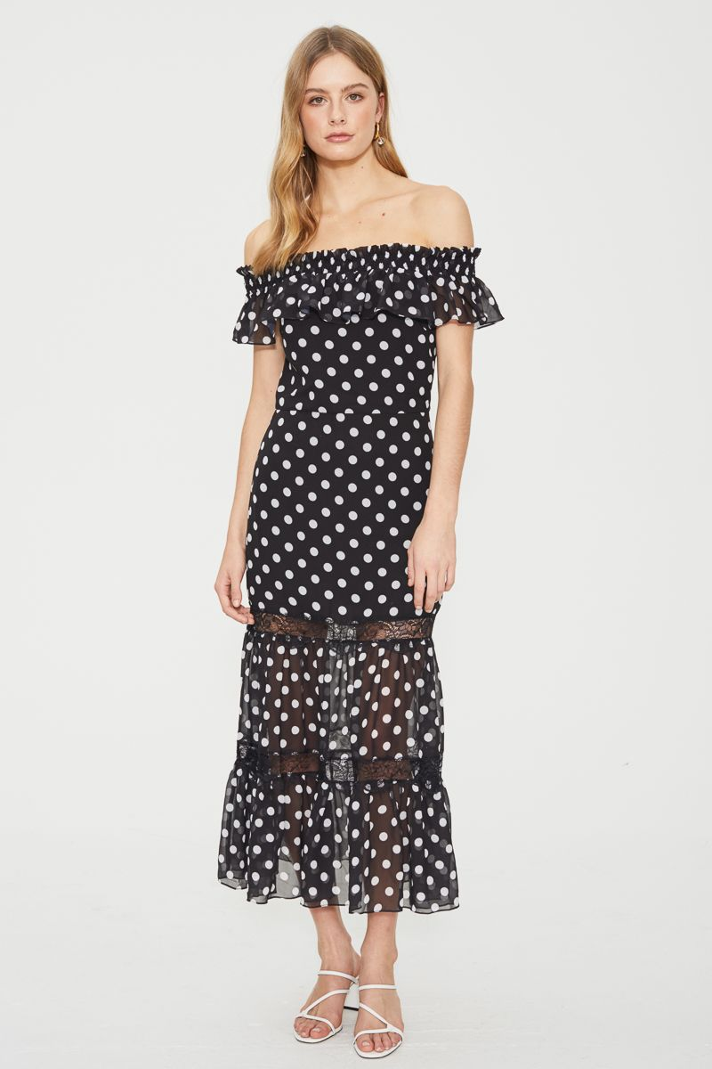 Cooper St Off The Shoulder Midi Dress