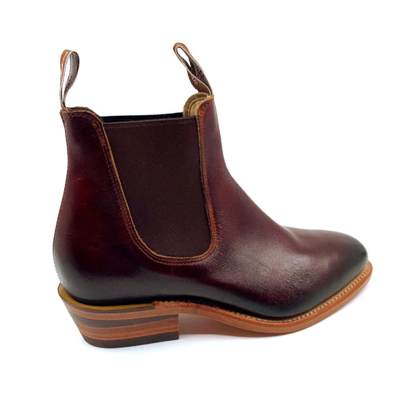 R.M. Williams Lady Yearling Boot - D Fit - Burnished Mahogany with Natural Sole