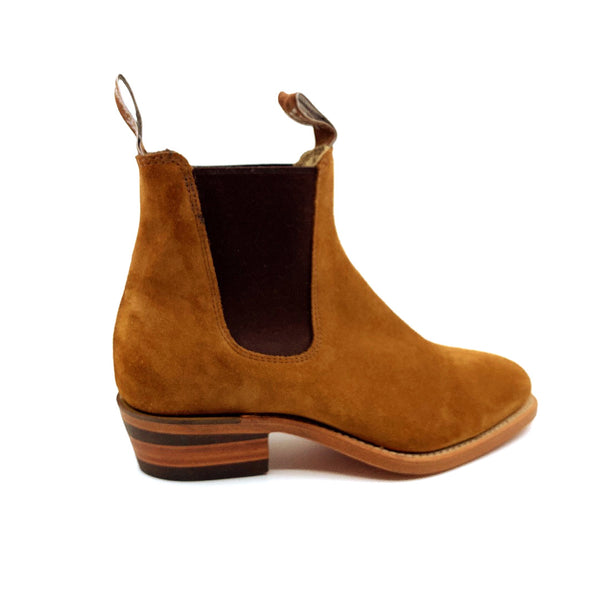 R.M. Williams Lady Yearling Boot - D Fit - Havana Suede with Natural Sole
