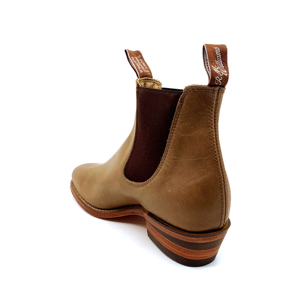 R.M. Williams Lady Yearling Boot - D Fit - Nutmeg with Natural Sole