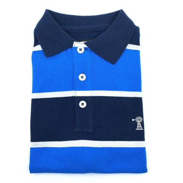 Ritemate Mens Classic Stripe Polo - 5 Colours