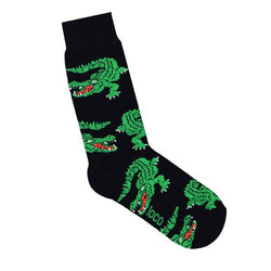 Loco Crocodile Socks - Blue & Black