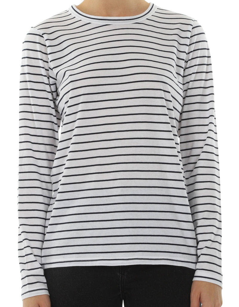 Nude Lucy Ava Long-Sleeve T-Shirt - Navy Stripe and Clay Stripe