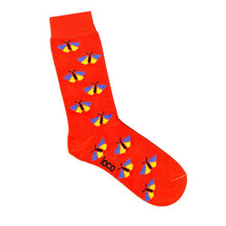 Loco Butterfly Sock - Orange & Pink