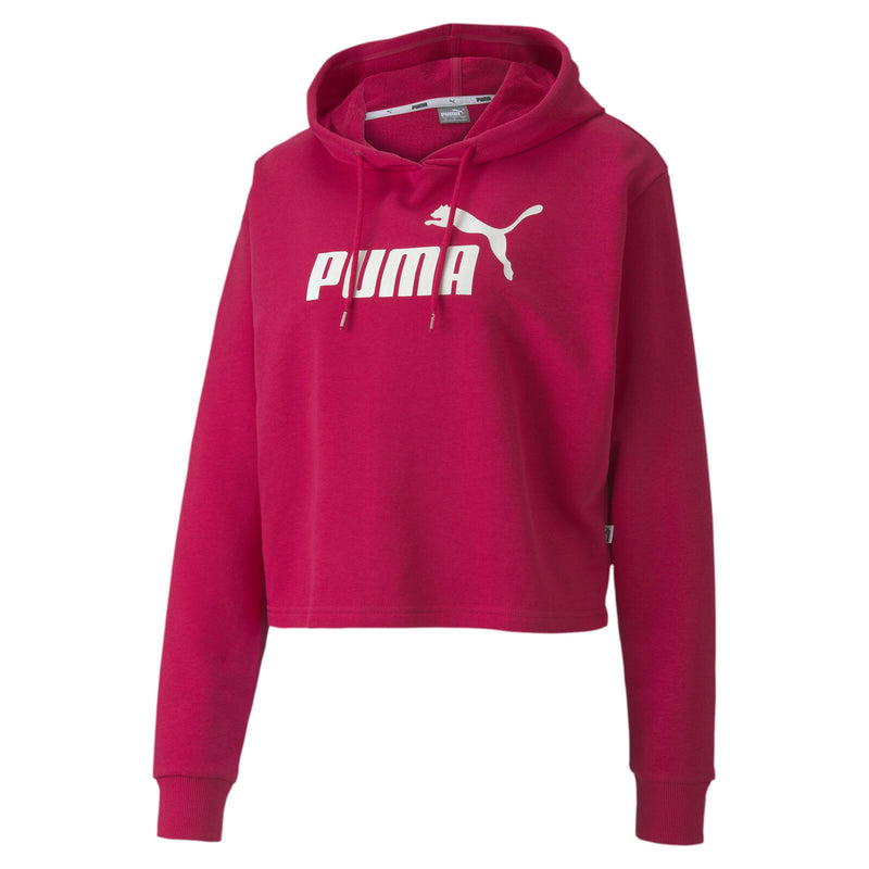 Puma Womens Essentials+ Logo Crop Hoodie