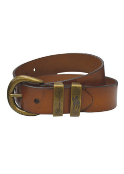 Thomas Cook Mens Brass Twin Keeper Belt