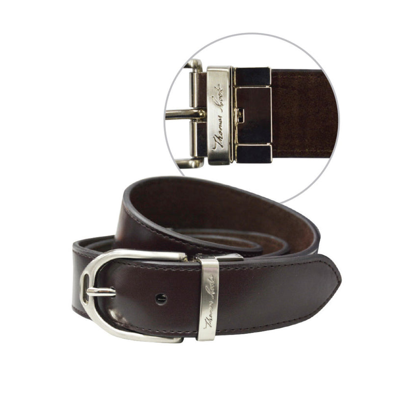 Thomas Cook Womens Stirrup Buckle Reversible Belt