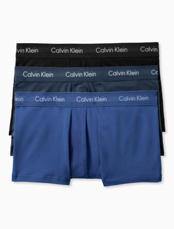 Calvin Klein Mens Multi Cotton Stretch 3PK Low Rise Trunk