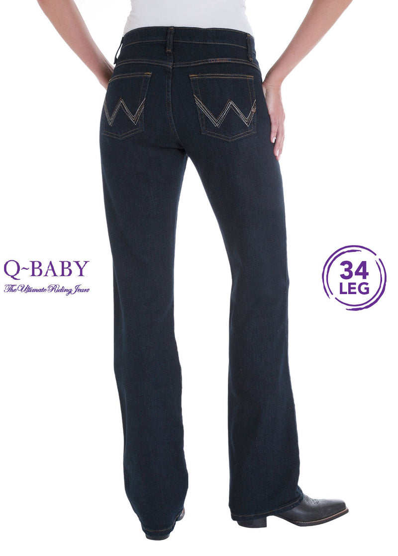 "Wrangler Womens Ultimate Riding Jean - Q Baby - 34"" Leg"