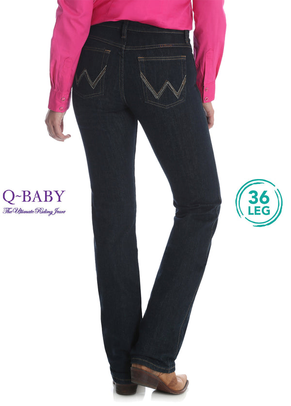 "Wrangler Womens Ultimate Riding Jean - Q Baby - 36"" Leg"