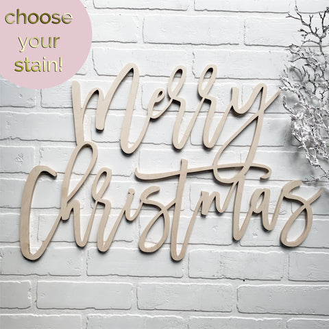 "24"" Merry Christmas Cutout - overstock"