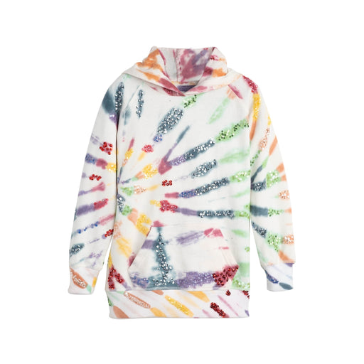 Kid's Hand Beaded Sequin & Tie Dye Hoodie