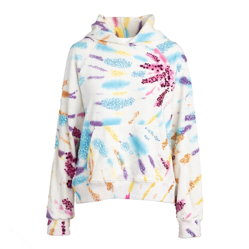 Adult Hand Beaded Sequin & Tie Dye Hoodie