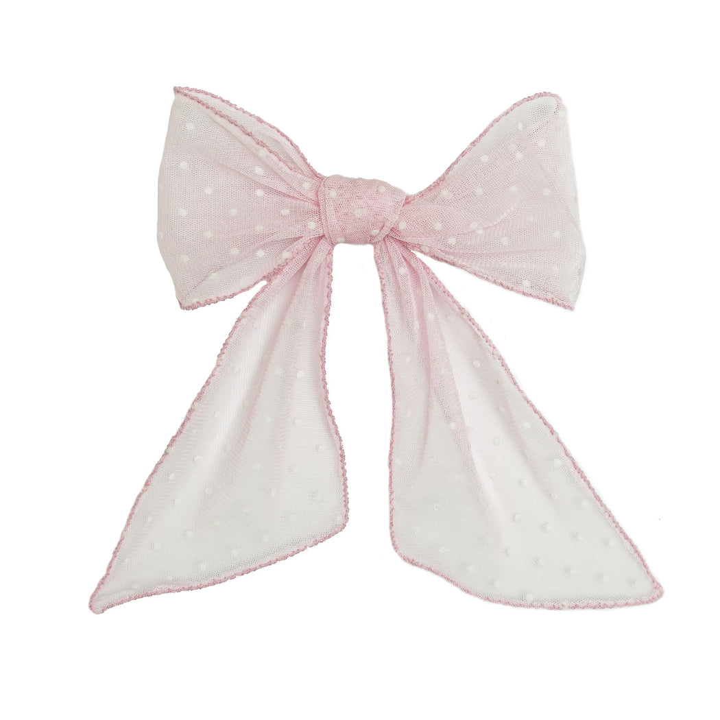 The Floating Polka Dot Bow in Blush