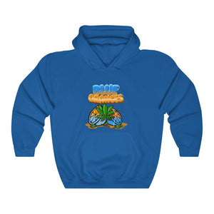 020 Unisex Blue oranges Heavy Blend™ Hooded Sweatshirt