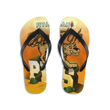 Load image into Gallery viewer, Unisex Flip-Flops Cheetah piss