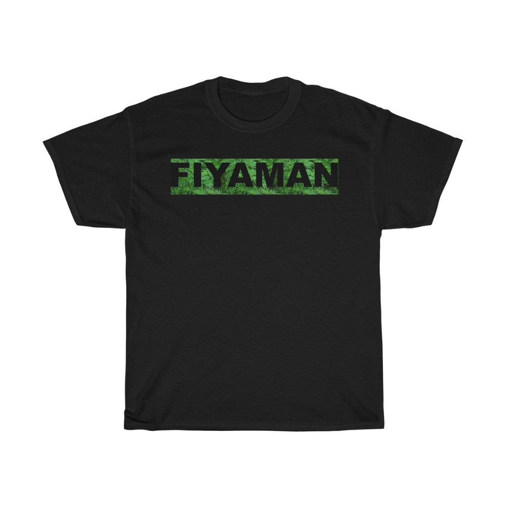 0014 Unisex Fiyaman Logo Black Heavy Cotton Tee