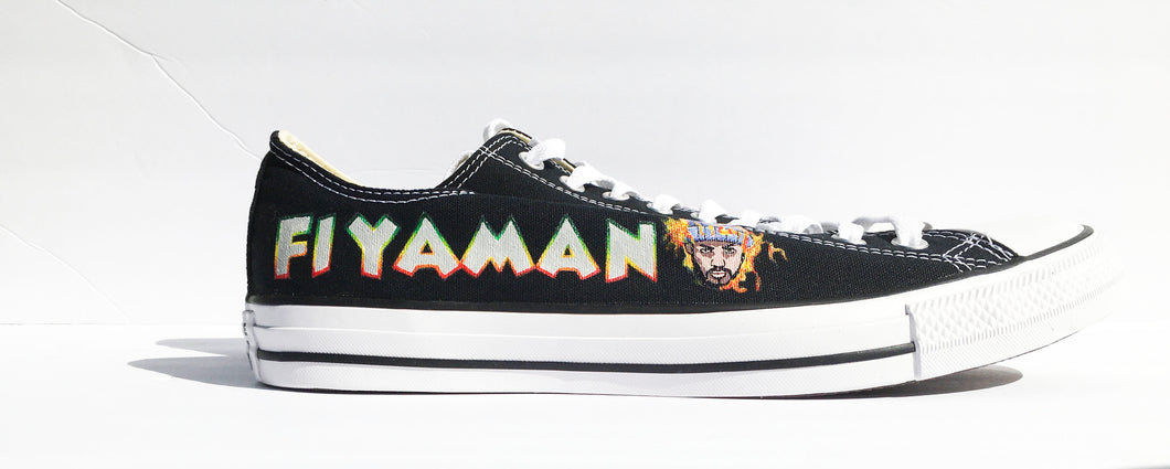 Fiyaman Converse Chuck Taylor All Star Low Tops in Black