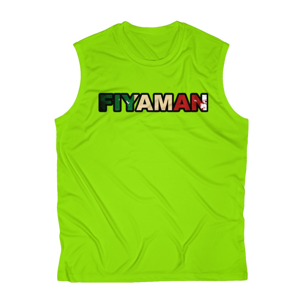 051 Fiyaman Italee Men's Sleeveless Performance Tee