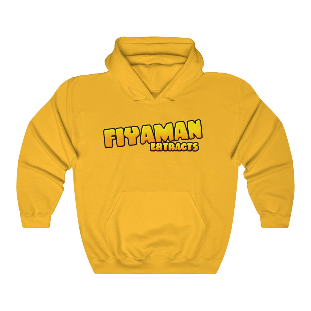 018 Unisex Fiyaman logo gold Banana  Heavy Blend™ Hooded Sweatshirt