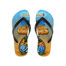 Load image into Gallery viewer, Unisex Flip-Flops Blue Oranges