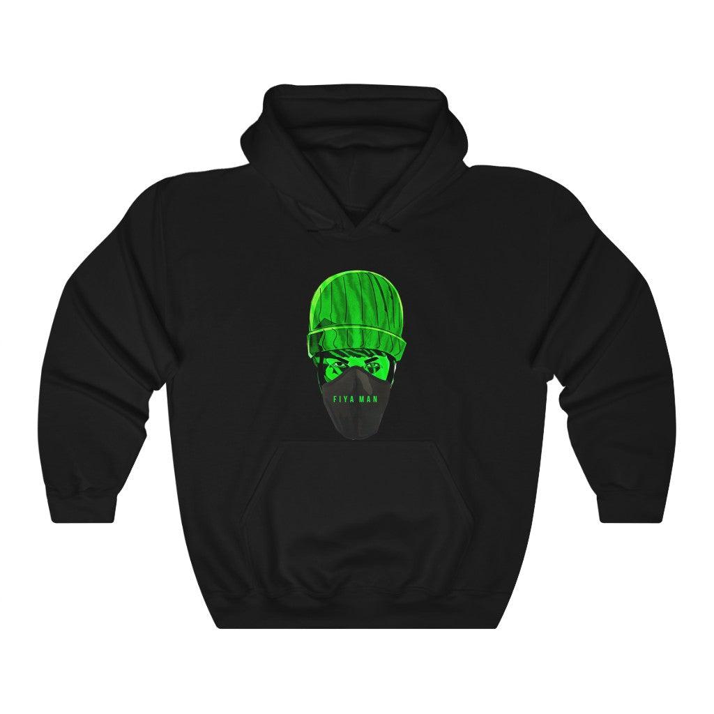 Green Mask Unisex Heavy Blend™ Hooded Sweatshirt