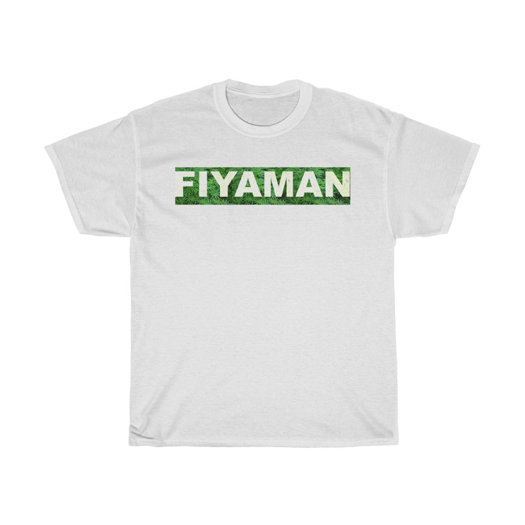 009 Unisex Fiyaman logo white Heavy Cotton Tee