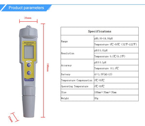 Multi-Function PH Meter - Waterproof - With Backlight