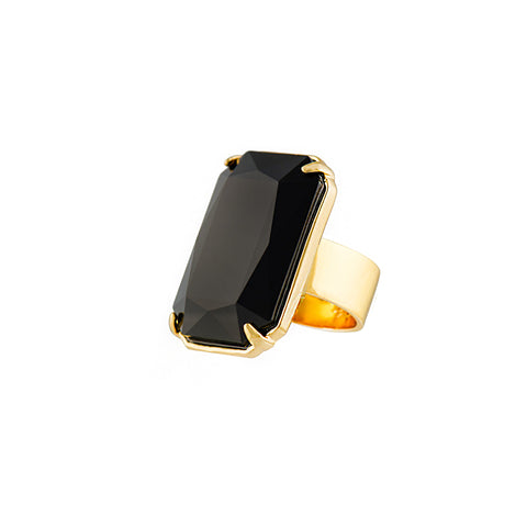 HOLLYWOOD STARDOM STATEMENT RING (BLACK)