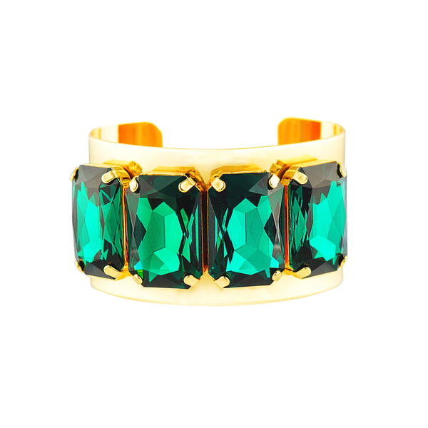 CUFFED IN GLAMOUR STATEMENT CUFF (EMERALD)