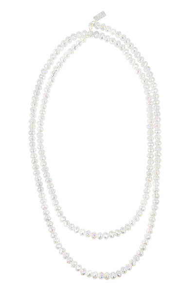 MULTI-LAYER GLAMOUR STATEMENT NECKLACE (CLEAR/AB)