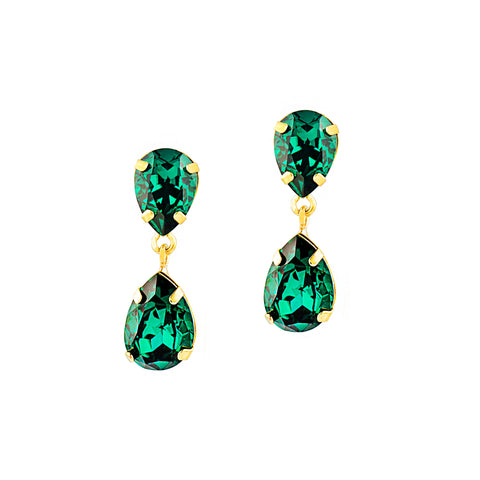 BE EXTRAORDINARY STATEMENT EARRINGS (EMERALD)