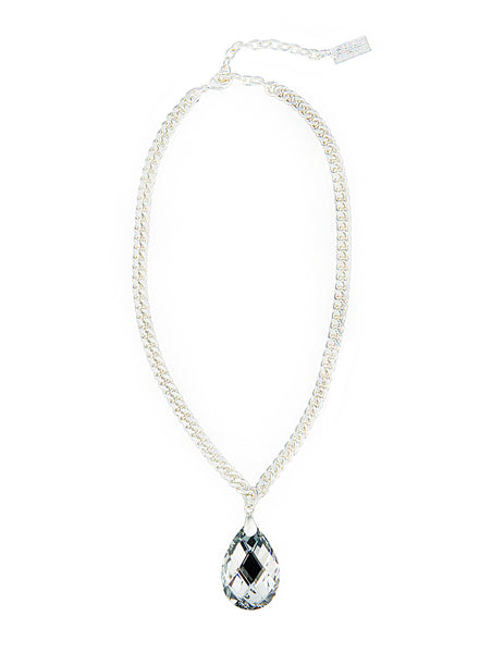 TOUCH OF CLASS STATEMENT NECKLACE (SILVER/LABRADOR)