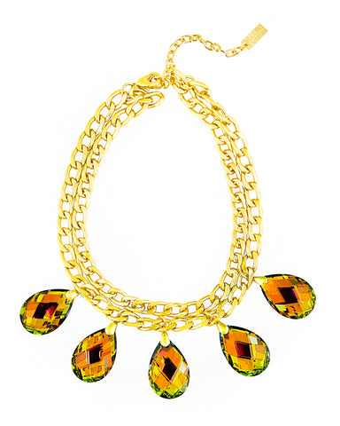 CROWNED IN CRYSTAL STATEMENT NECKLACE (MAREA)