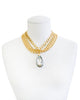 RIVIERA CHIC STATEMENT NECKLACE (GOLD/LAB)