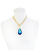 HOLLYWOOD ELEGANCE STATEMENT NECKLACE (BERMUDA BLUE)