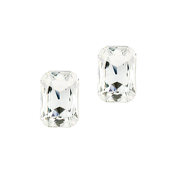 80s GLAMOUR STATEMENT EARRINGS (SILVER)