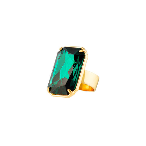 HOLLYWOOD STARDOM STATEMENT RING (EMERALD)